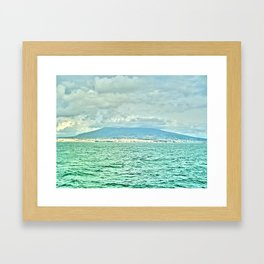 in between water accumulation Framed Art Print