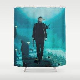 John Wick Abstract Art Shower Curtain