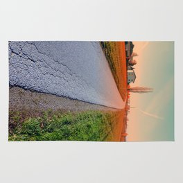 Country road into beautiful scenery | landscape photography Rug