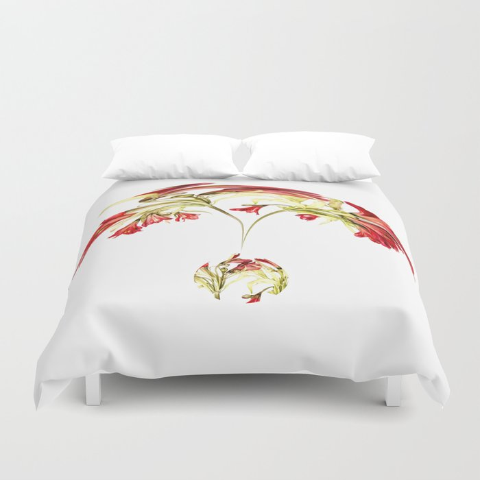 Warped Parrot Lily Duvet Cover