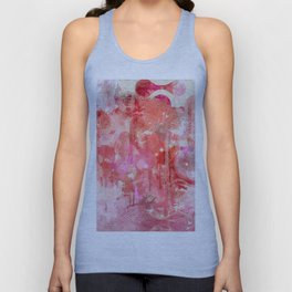 Modern contemporary pastel Blush and Peaches Abstract Unisex Tank Top