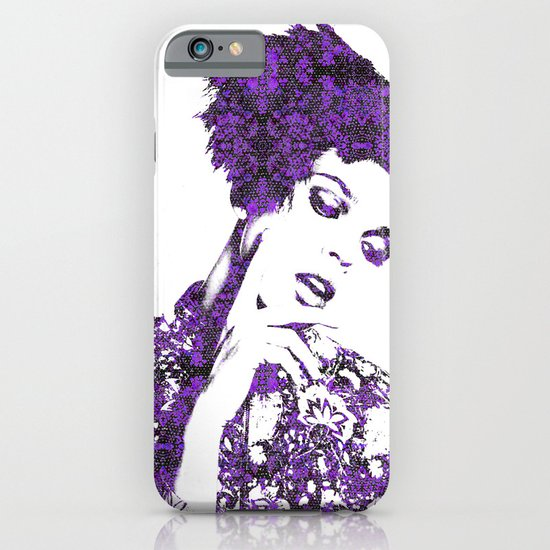 Purple Fashion Floral iPhone & iPod Case
