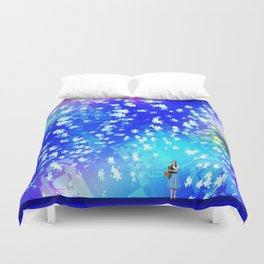 """""""Pastiche Takes Flight In Oz""""  by surrealpete Duvet Cover"""