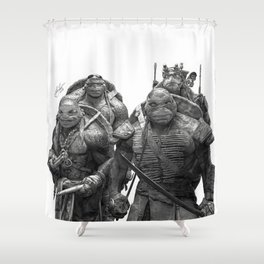 Green Teenage Heroes Shower Curtain