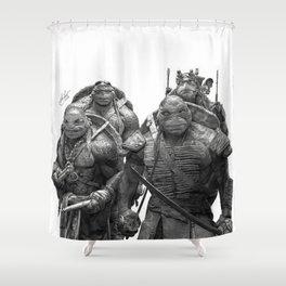 Green Teenage Heroes Shower Curtain