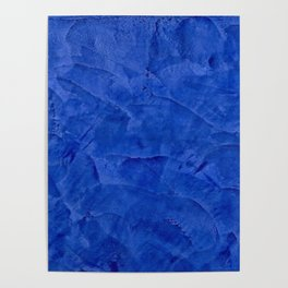 Dark Classic Blue Ombre Burnished Stucco - Faux Finishes - Venetian Plaster - Corbin Henry Poster