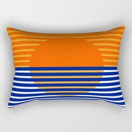 Orange Split Sun Rectangular Pillow