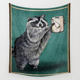 Your butt napkins my lord raccoon Wall Tapestry