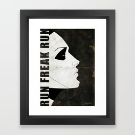 Run Freak Run Framed Art Print