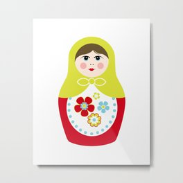 Matryoshka Doll 3 Metal Print