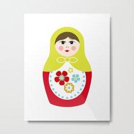 Matryoshka Doll 3 Metal Print
