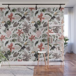Toucans in the flowered jungle 6 Wall Mural