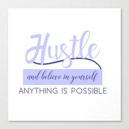 Hustle in Light Blue Canvas Print