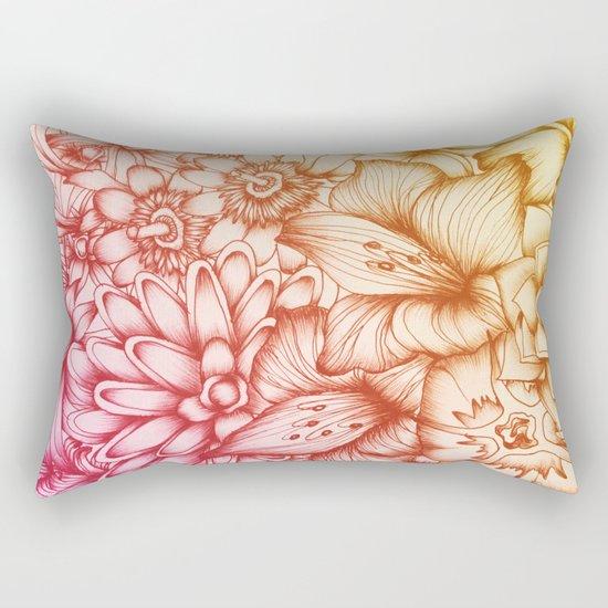 Tropical Flowers II Rectangular Pillow