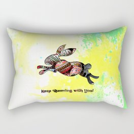 Happy Easter Rabbit - Keep Runing with You Rectangular Pillow