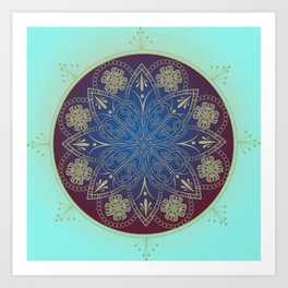 Celtic Mandala Art Print