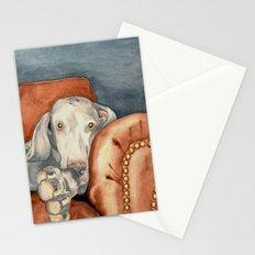 Jade Weimaraner Stationery Cards