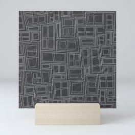 Charcoal Backed Windows Mini Art Print