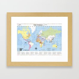 The World –Travel and Explore! Framed Art Print