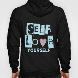 Love Your Self in Blue Hoody