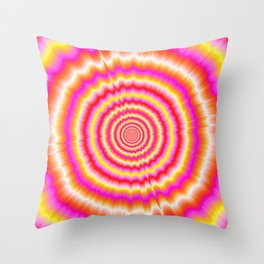 Shockwaves in Violet and Yellow Throw Pillow