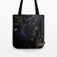 superhero Tote Bags featuring Superhero by Vanessa Antonina