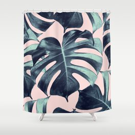 Tropical Monstera Leaves Dream #3 #tropical #decor #art #society6 Shower Curtain