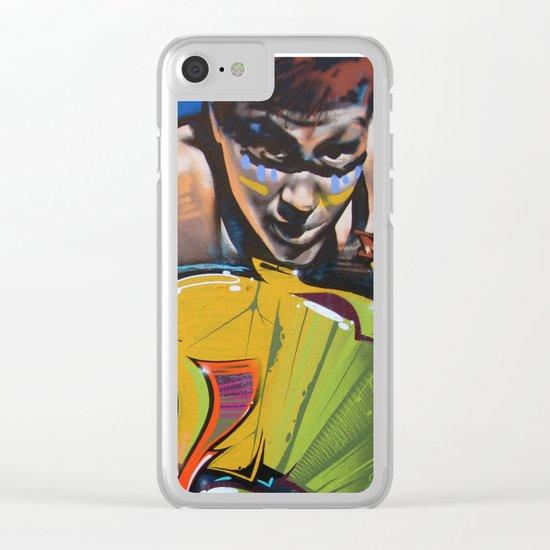 Colorful Graffiti Clear iPhone Case