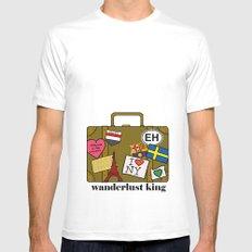 Wanderlust King Mens Fitted Tee MEDIUM White