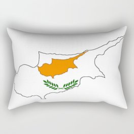 Cyprus Map with Cypriot Flag Rectangular Pillow