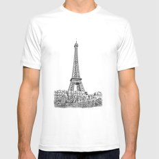 Another Eiffel Tower Photo Mens Fitted Tee MEDIUM White