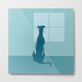 Waiting Greyhound Metal Print