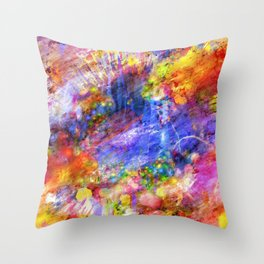 Abstract Colorful Paint Splash Artwork Decoration Throw Pillow
