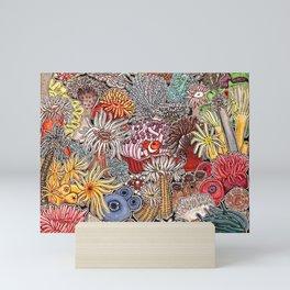 Clown fish and Sea anemones Mini Art Print