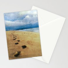 Footprints in the Sand (California Beach) Stationery Cards
