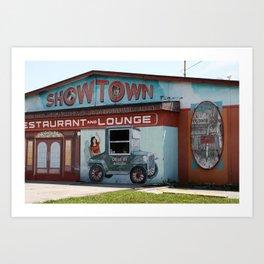 Showtown Art Print