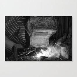 Welder works Canvas Print