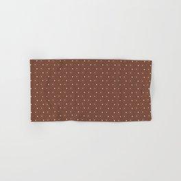 Sherwin Williams Canyon Clay and White Polka Dots Circle Pattern Hand & Bath Towel