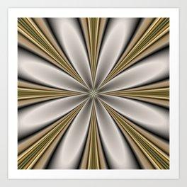 Fractal Flower in CMR 01 Art Print