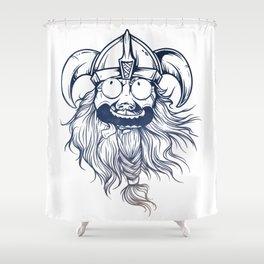 Vintage Great Beards - Crazy Viking Shower Curtain