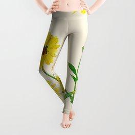 Yellow Wildflowers Leggings
