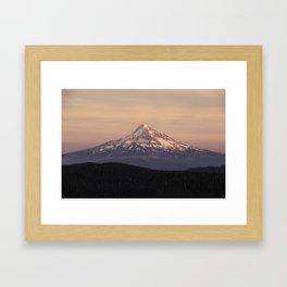 Mt. Hood Backcountry Framed Art Print
