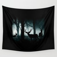 guardians Wall Tapestries featuring Guardians of the Forest by Dre' J - Cyncor Artworks