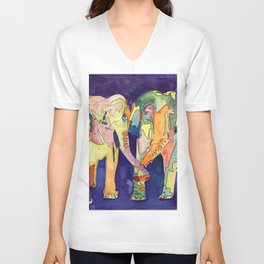 Elephant Love Unisex V-Neck