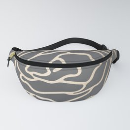 Rose White Gold Sands on Storm Gray Fanny Pack