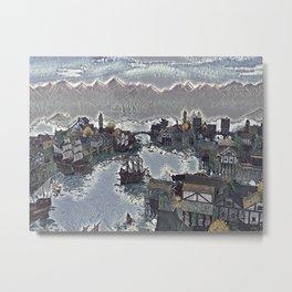Boatyard Metal Print