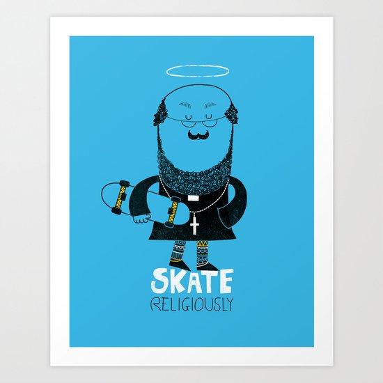 Skate Religiously Art Print