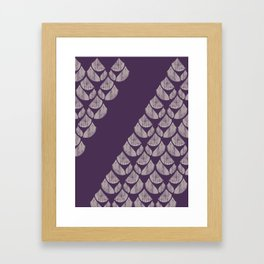 Purple drops Framed Art Print