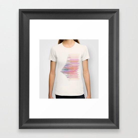 glitchship Framed Art Print