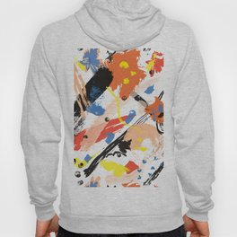 Abstract Floral Splash Hoody